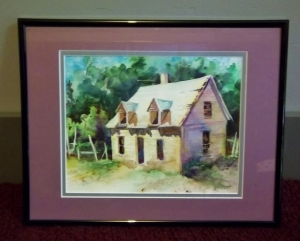 Watercolor donated by Mel Scott