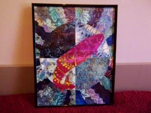 Salmon-themed silent auction artwork