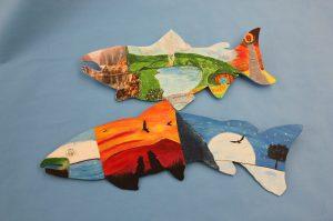 Student decorated salmon