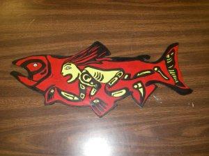 Salmon artwork