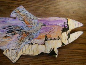 Student Salmon Art